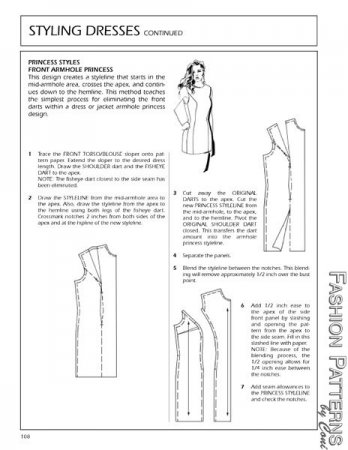Sewing / Tailoring / Stitching : Princess Cut or A-Line Kameez draft ...