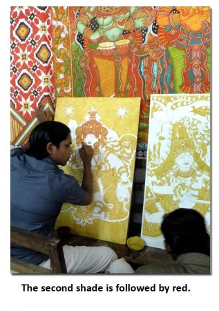 Indian painting styles kerala mural painting indusladies for Ananthasayanam mural painting