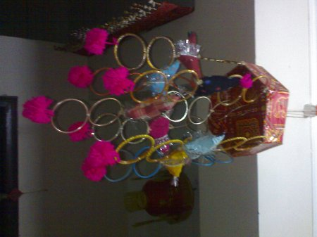 My crafts from waste indusladies for Craft using waste bangles