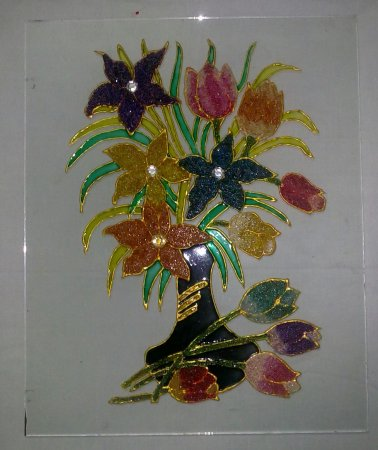 my crystal glass painting indusladies