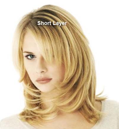 Short haircuts in layers