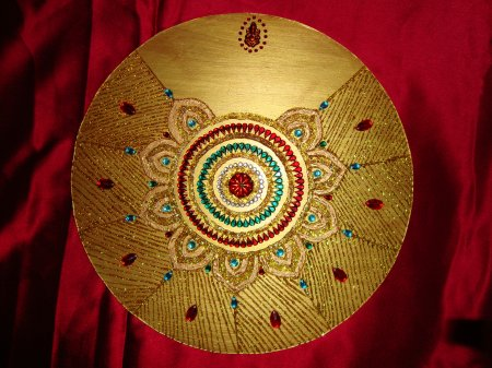 aarthi thali.JPG : aarti plate decoration - Pezcame.Com