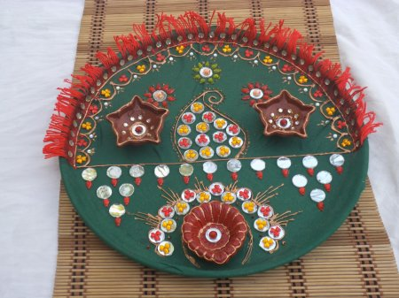 Navratri aarti thali decoration contest page 9 for Aarti thali decoration competition