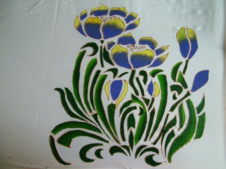 Paintings Fabric Painting On Sarees Other