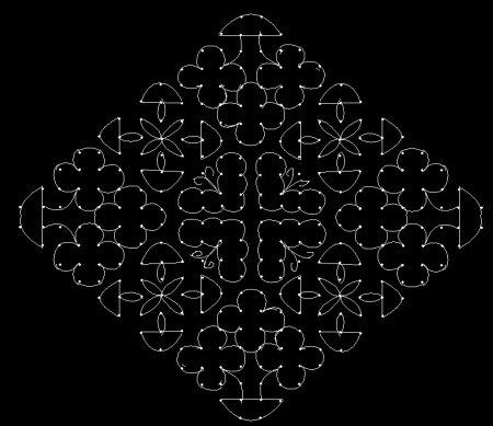 Rangoli Kolam With Dots