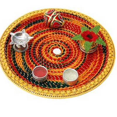 Wedding Plate Aarathi Thali Decoration Collections Indusladies