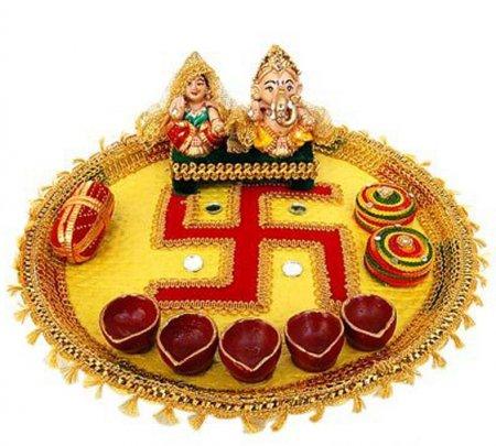 Wedding plate aarathi thali decoration collections for Arathi thattu decoration