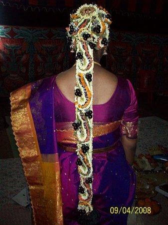 South Indian Bridal Hair Styles Jadai Alankaram Part 1