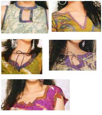 Chudithar/Salwar Neck & Sleeves patterns   Indusladies