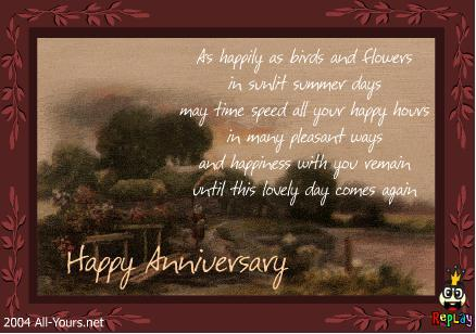 advance wedding anniversary wishes to our friend sheshin