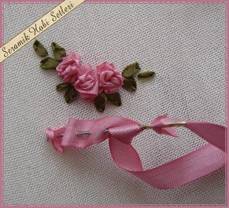 Tutorial for ribbon embroidery