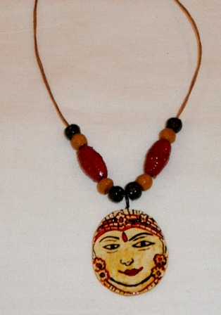 Kerala mural painted clay jewellery indusladies for Mural jewellery