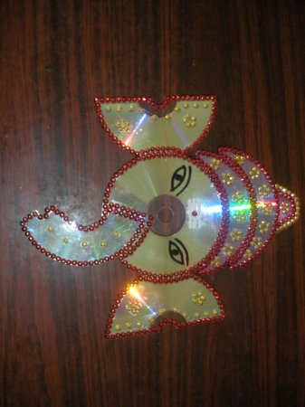 craft ideas from waste cd lord ganesh using waste cd best out of waste indusladies 6284