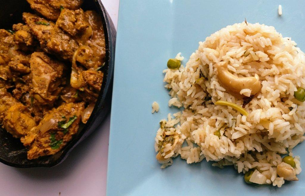 Pepper chicken / Kozhi milagu curry with Ghee rice  | Indusladies