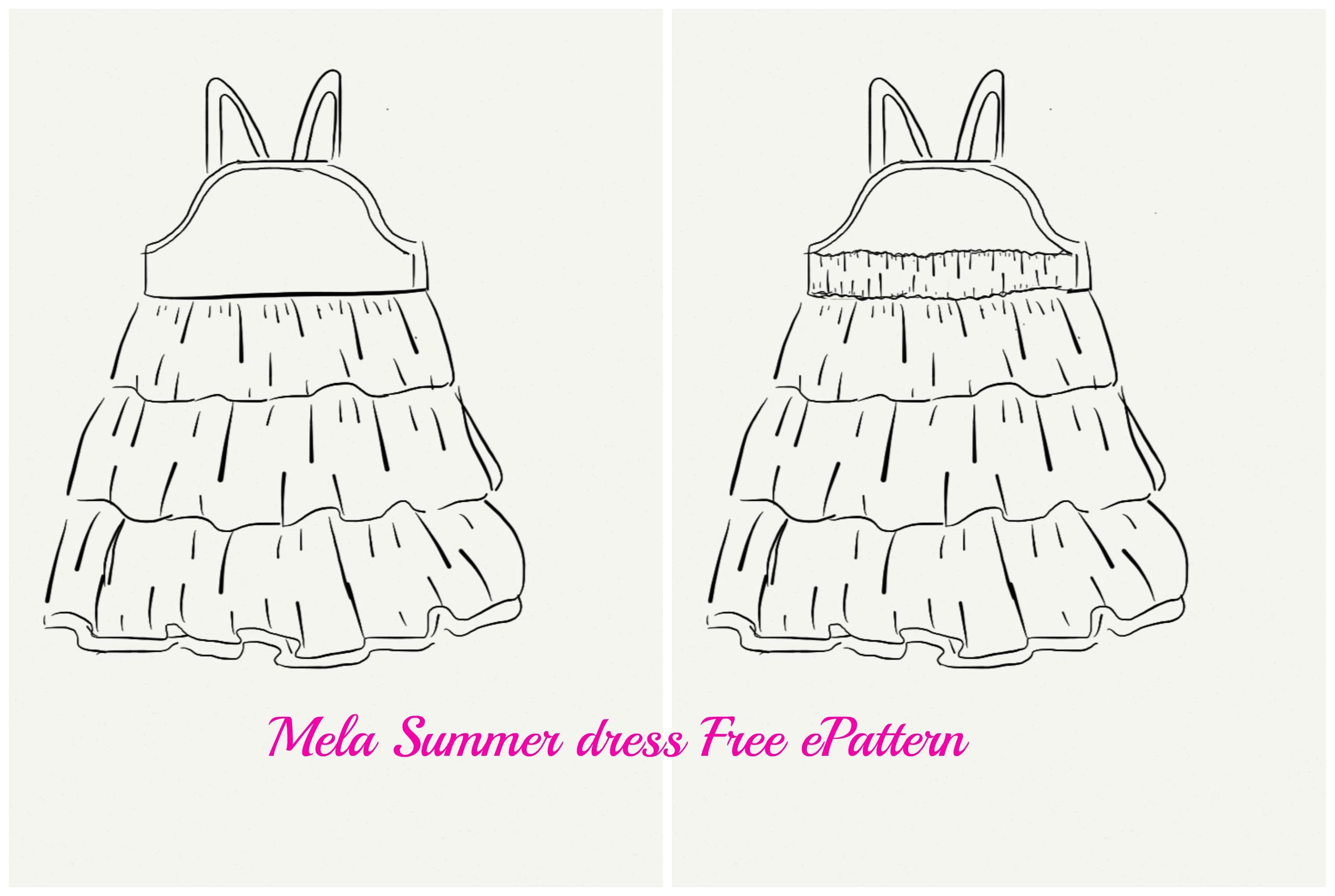 Mela Summer Dress Free E-Pattern
