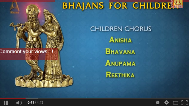 Teach your Kids this Easy Bhajan in Praise of Lord Krishna
